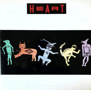 Heart ‎- Bad Animals (LP) (G++/VG+)